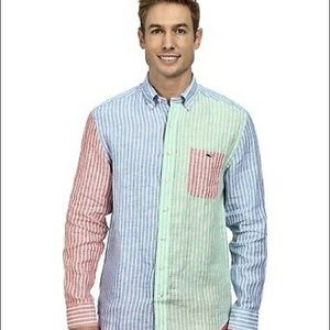 Vineyard Vines Classic Fit Tucker Shirt Size Large
